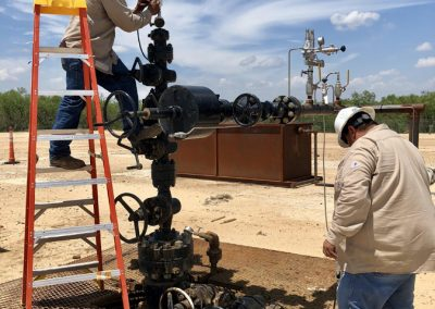 Installation of a Wireless Pressure Transmitter for wellhead pressure monitoring