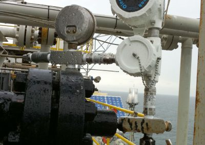 Wireless Pressure Transmitter on an offshore oil rig