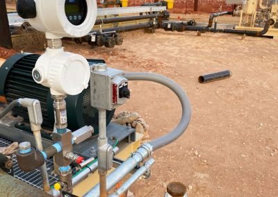 WIKA pressure sensors connected to OleumTech Wireless Pressure Gauge Transmitter