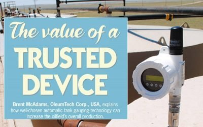 OleumTech® Featured in Latest Issue of Oilfield Technology