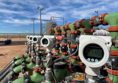 Modbus Smart PTs monitor flowline header pressure in oilfields