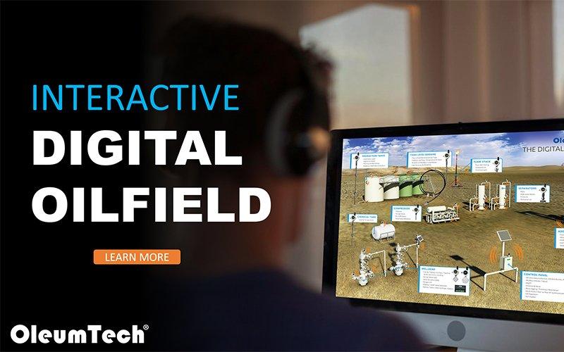 Interactive Digital Oilfield on Computer
